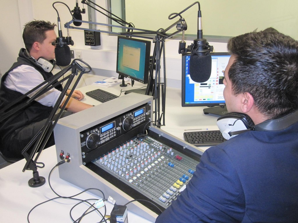 Students broadcast live shows via 101.1FM